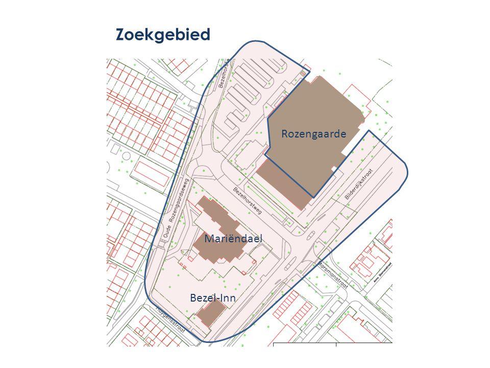 Zoekgebied Rozengaarde Mariëndael Bezel-Inn