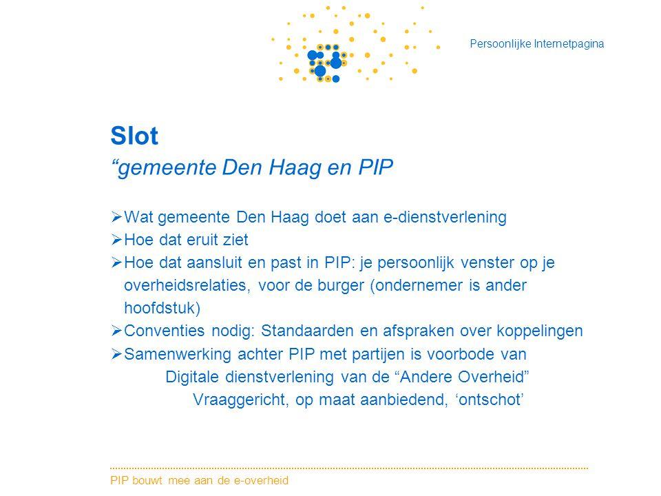 Slot gemeente Den Haag en PIP