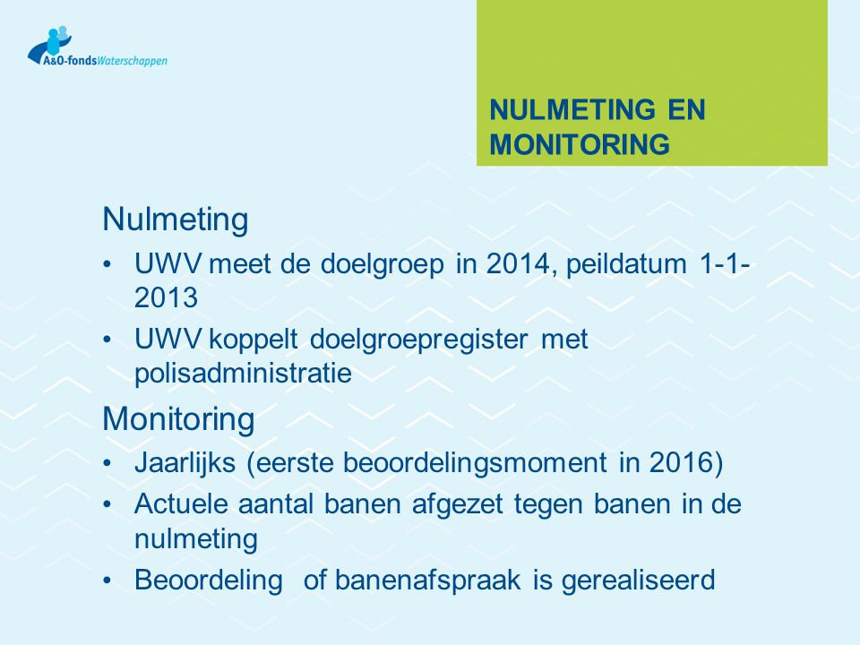 Nulmeting en monitoring