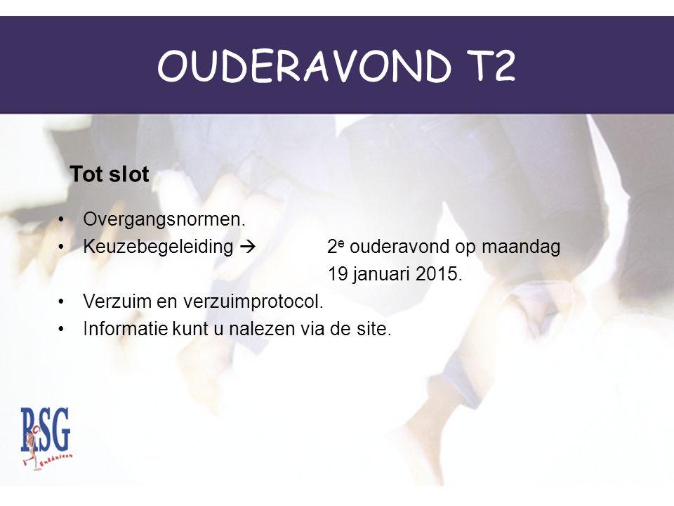 OUDERAVOND T2 Tot slot Overgangsnormen.