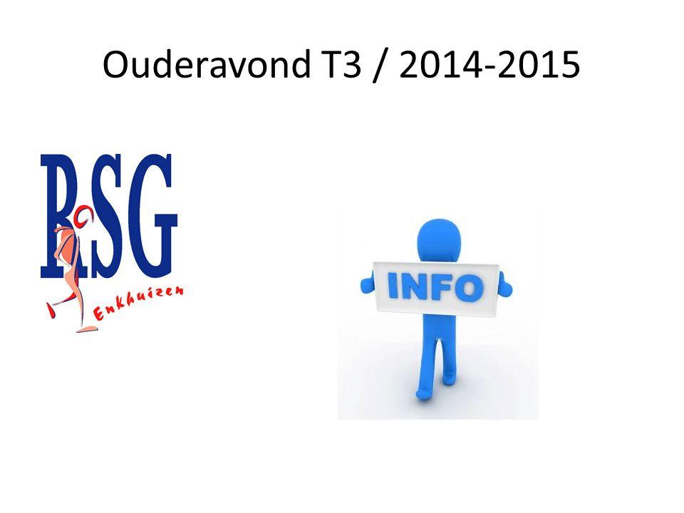 Ouderavond T3 / 2014-2015