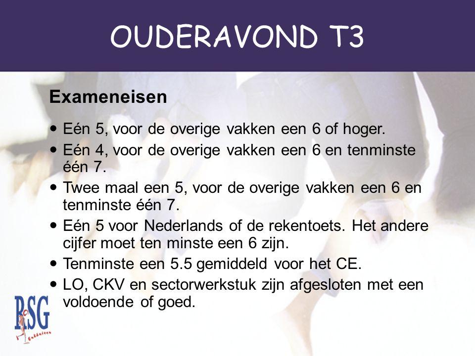 OUDERAVOND T3 Exameneisen