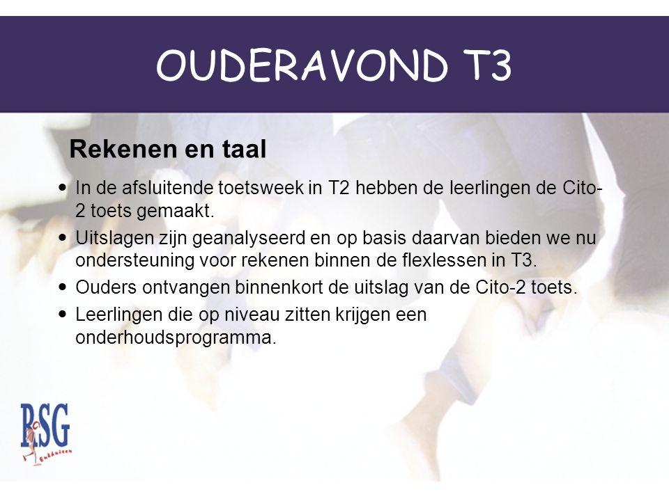 OUDERAVOND T3 Rekenen en taal