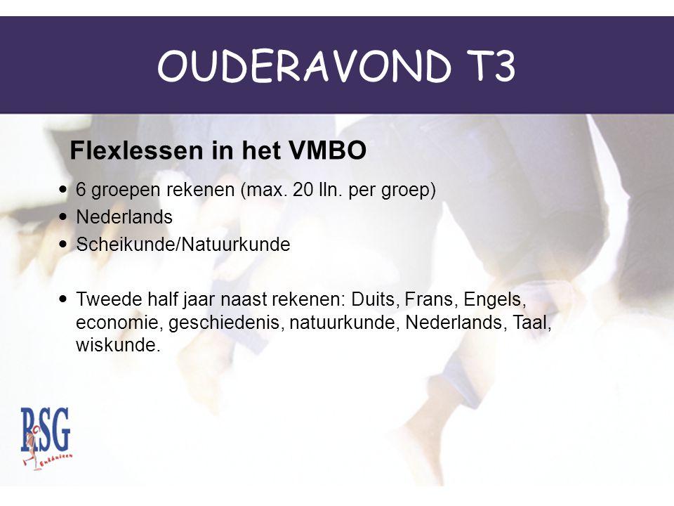 OUDERAVOND T3 Flexlessen in het VMBO