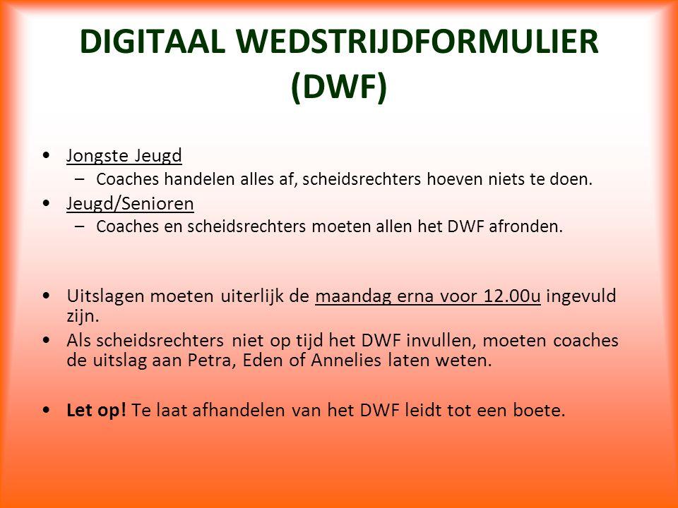 DIGITAAL WEDSTRIJDFORMULIER (DWF)