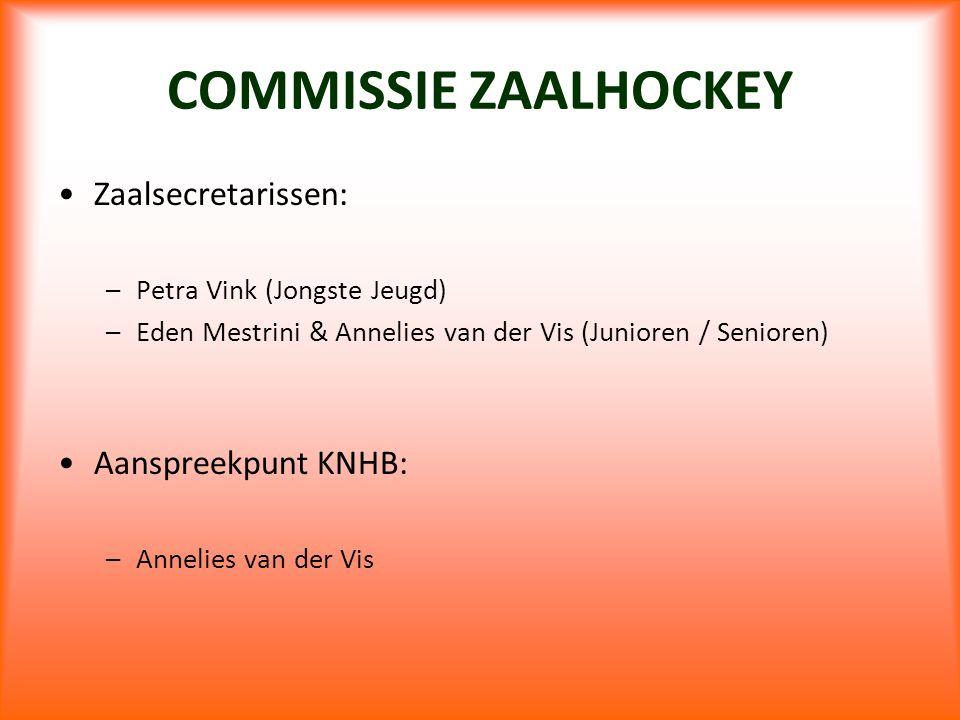 COMMISSIE ZAALHOCKEY Zaalsecretarissen: Aanspreekpunt KNHB: