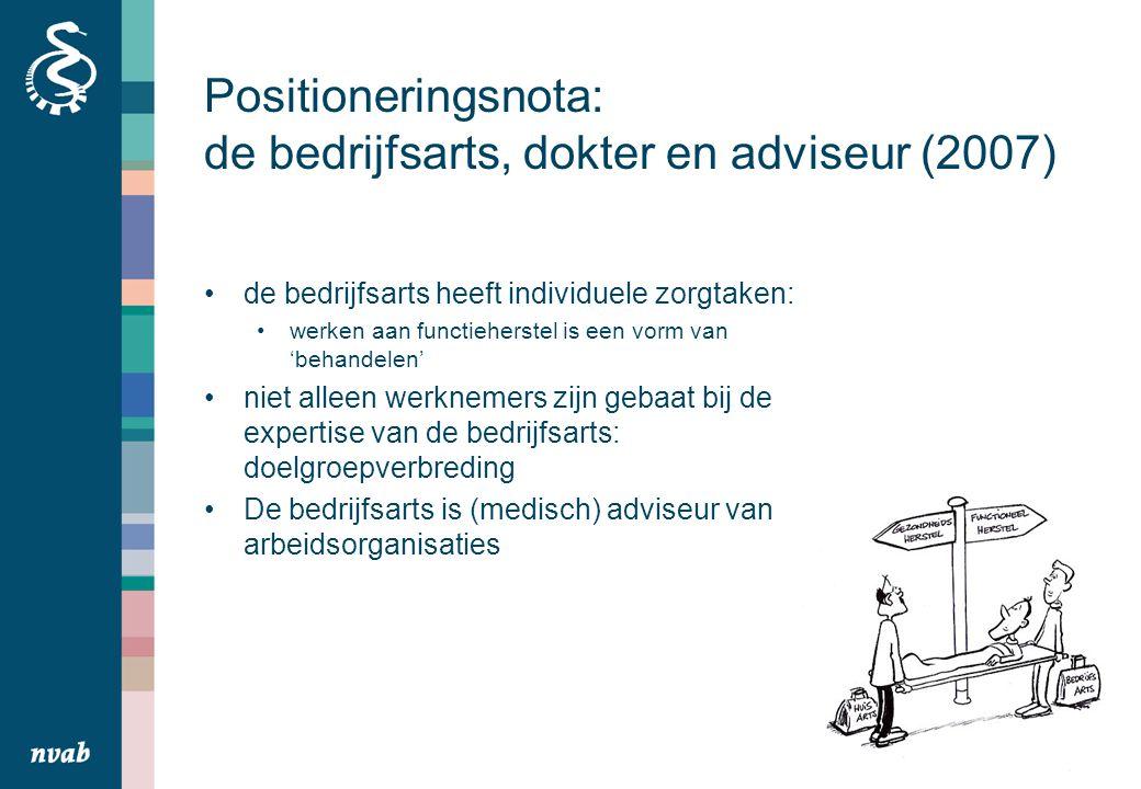 Positioneringsnota: de bedrijfsarts, dokter en adviseur (2007)