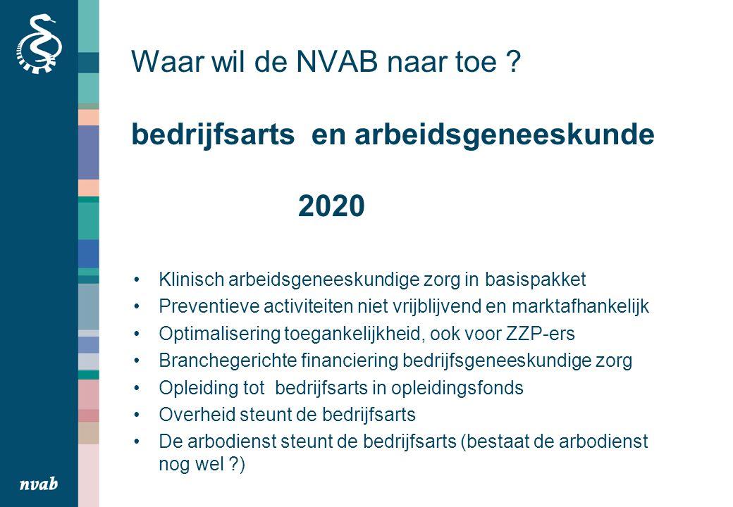Waar wil de NVAB naar toe bedrijfsarts en arbeidsgeneeskunde 2020