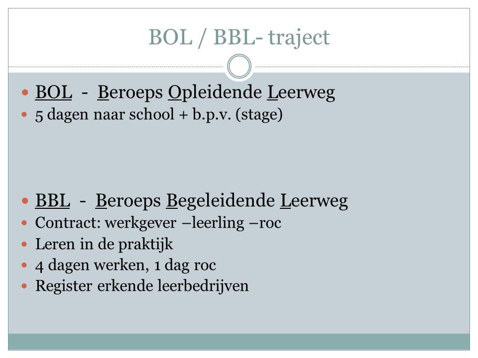 BOL / BBL- traject BOL - Beroeps Opleidende Leerweg