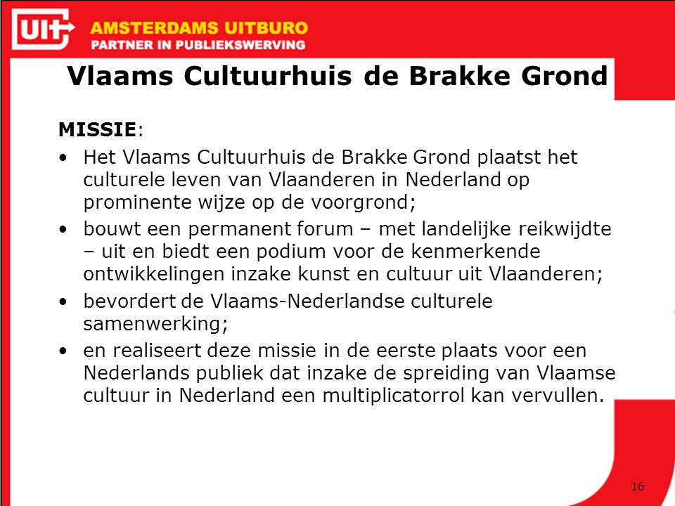 Vlaams Cultuurhuis de Brakke Grond