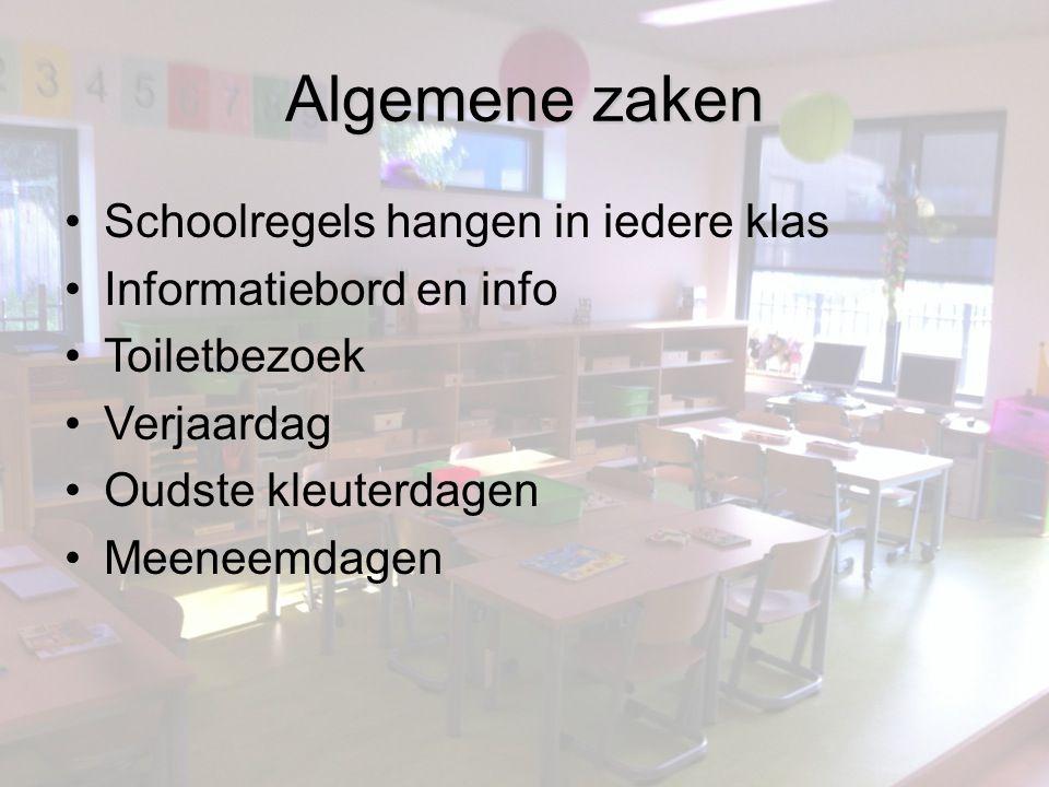Algemene zaken Schoolregels hangen in iedere klas