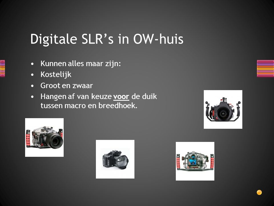 Digitale SLR's in OW-huis