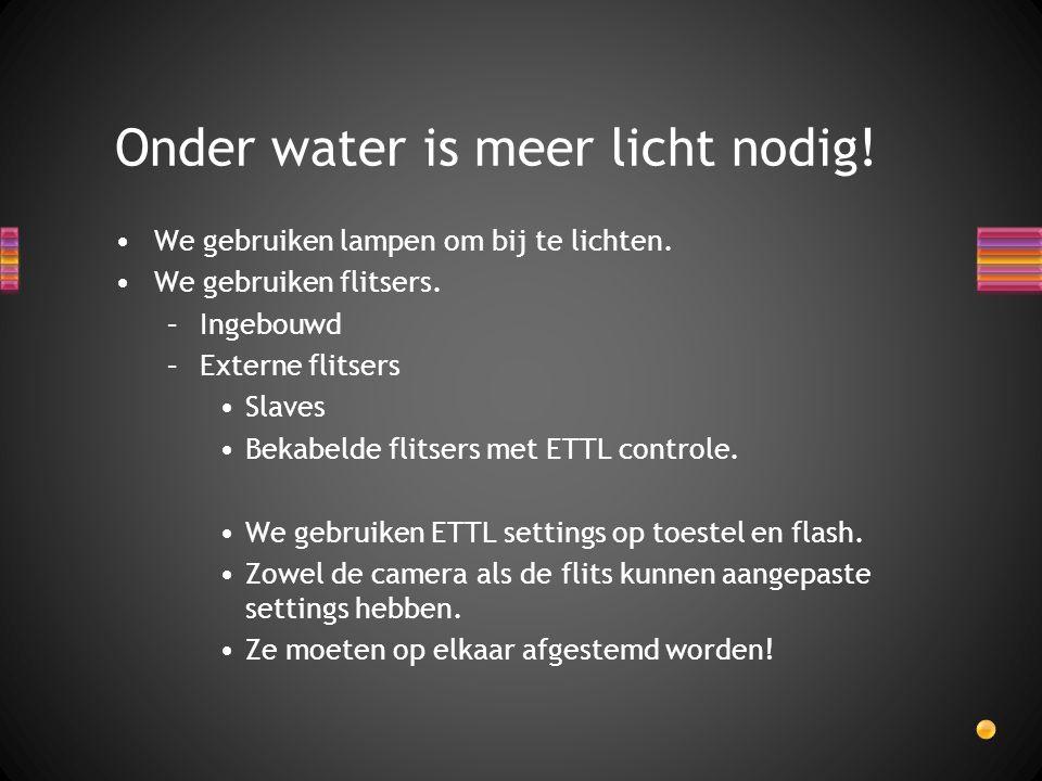 Onder water is meer licht nodig!