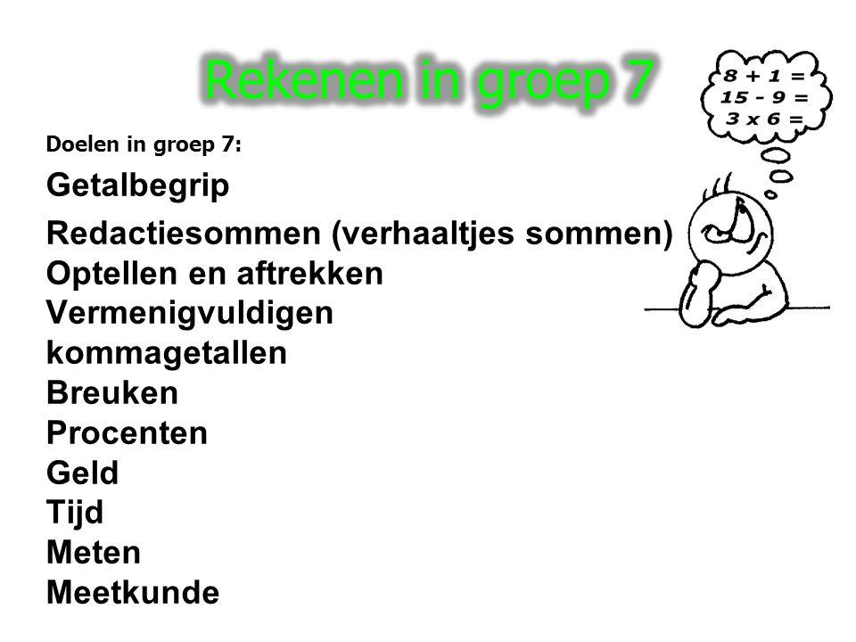 Rekenen in groep 7 Getalbegrip