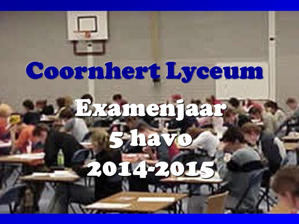 Coornhert Lyceum Examenjaar 5 havo 2014-2015
