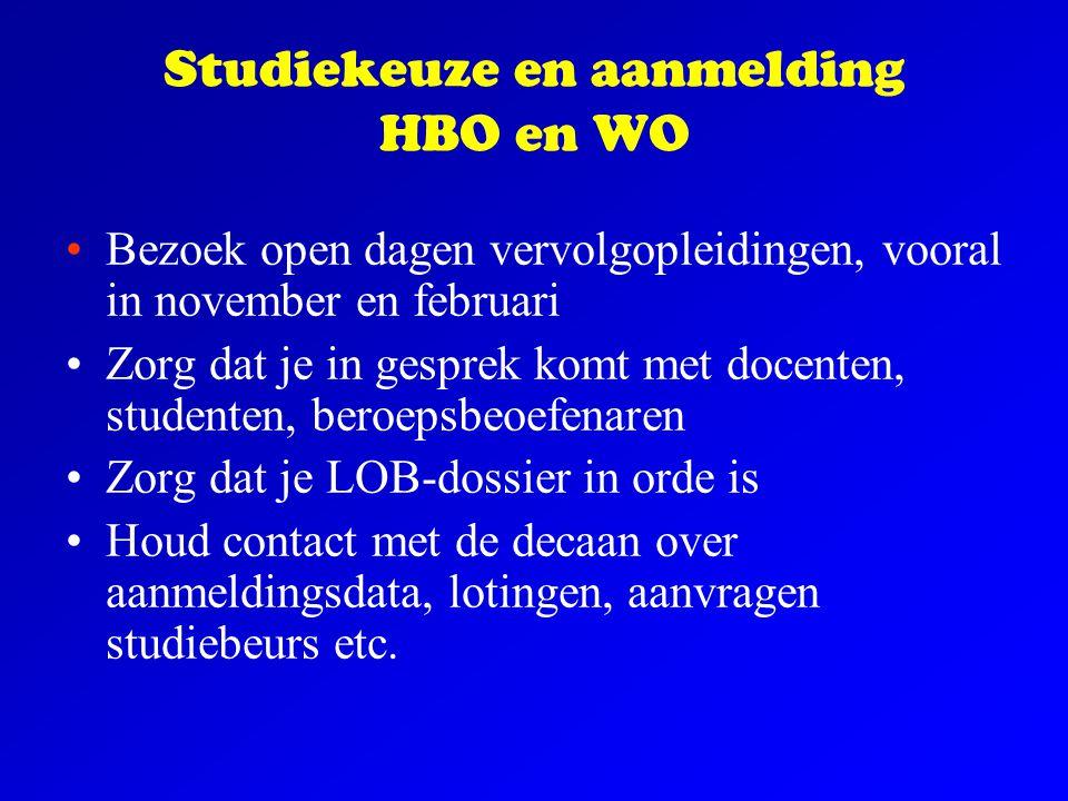 Studiekeuze en aanmelding HBO en WO