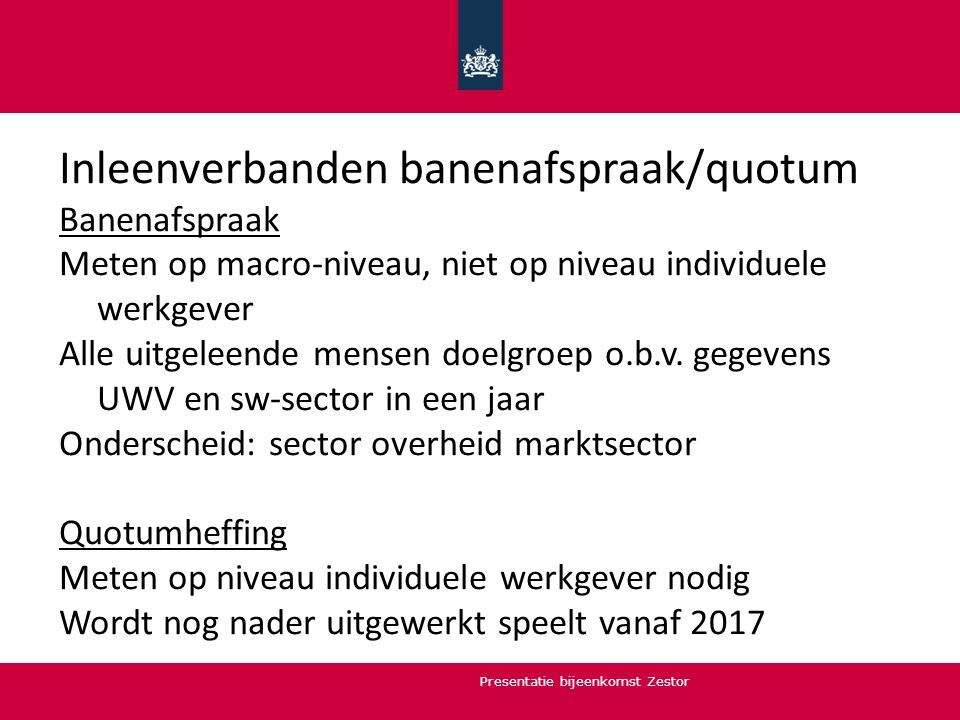 Inleenverbanden banenafspraak/quotum