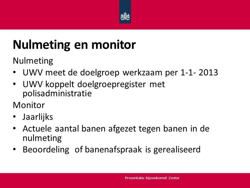 Nulmeting en monitor Nulmeting