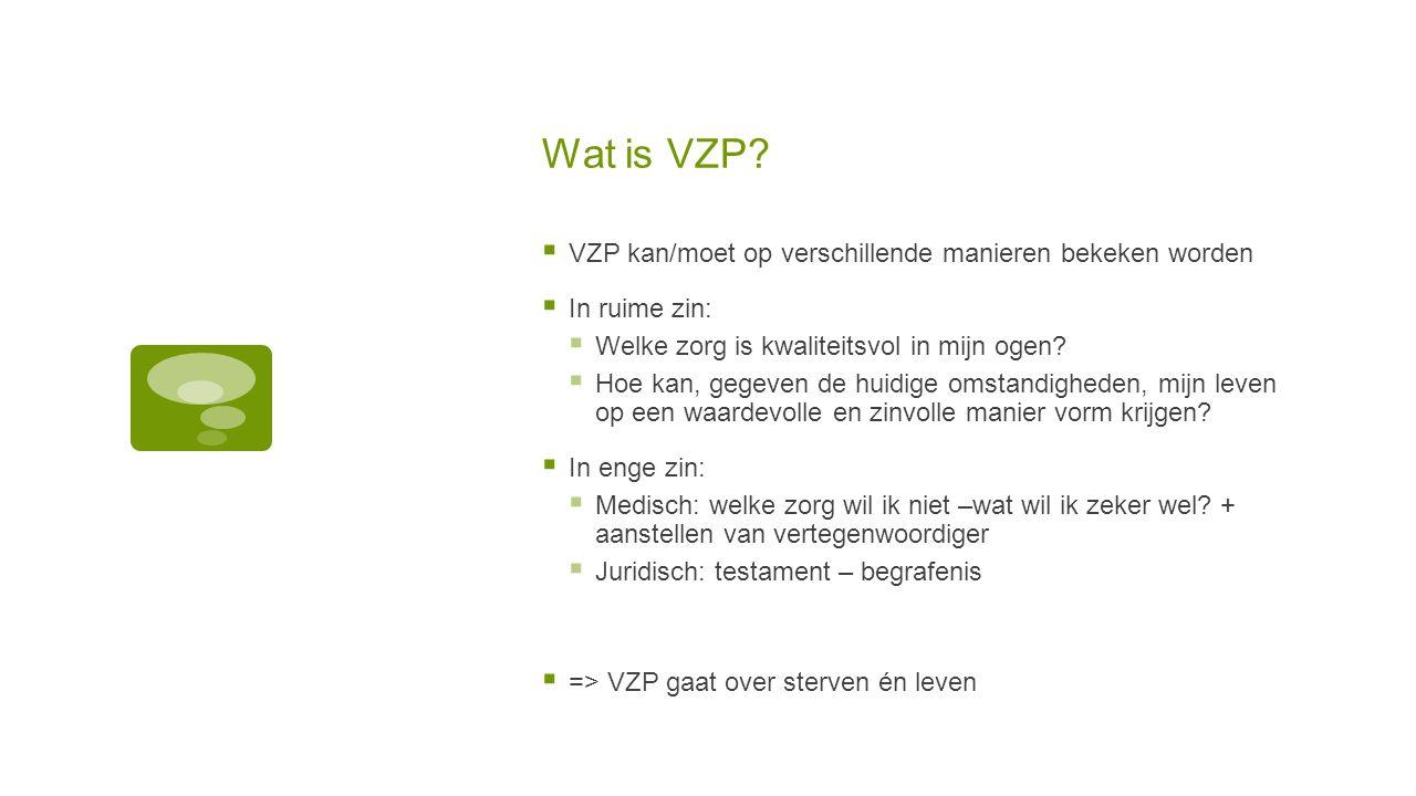 Wat is VZP VZP kan/moet op verschillende manieren bekeken worden