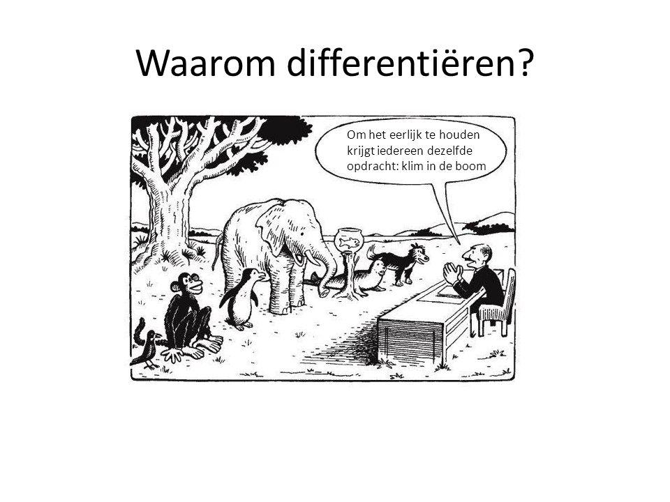 Waarom differentiëren