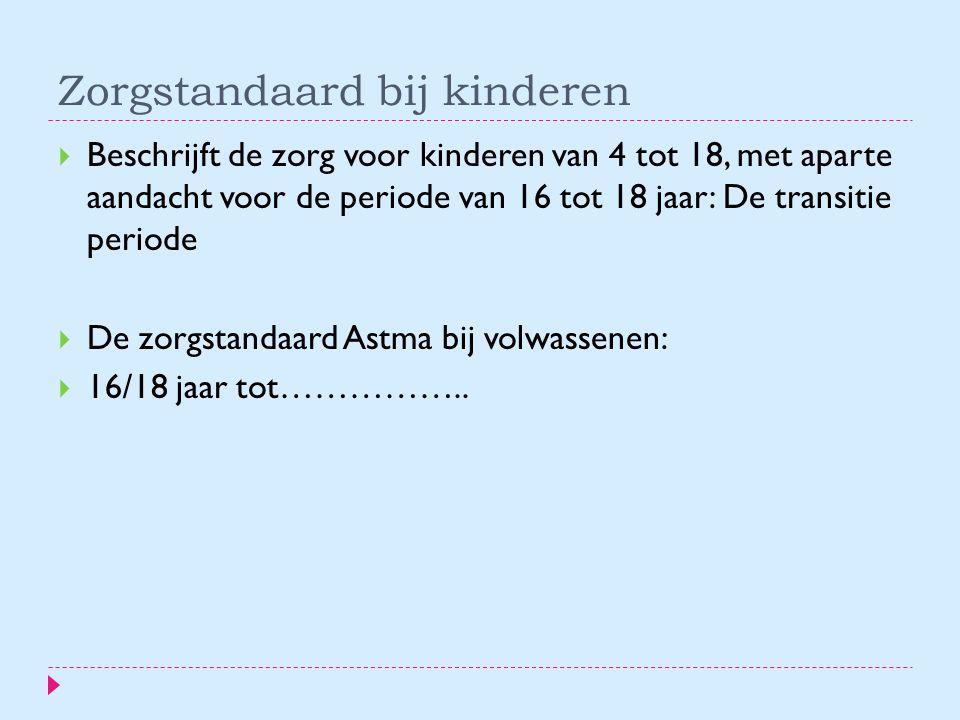 Zorgstandaard bij kinderen