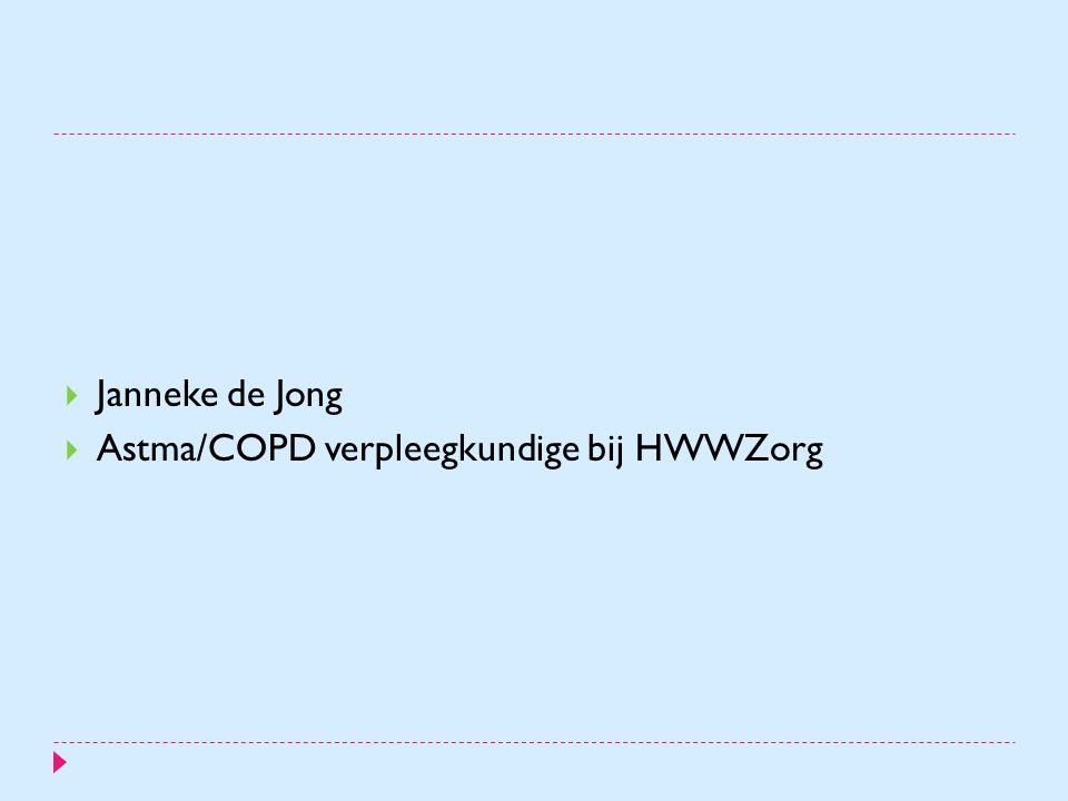 Janneke de Jong Astma/COPD verpleegkundige bij HWWZorg