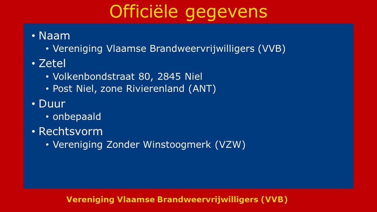 Officiële gegevens Naam Zetel Duur Rechtsvorm