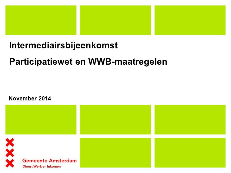 Intermediairsbijeenkomst Participatiewet en WWB-maatregelen