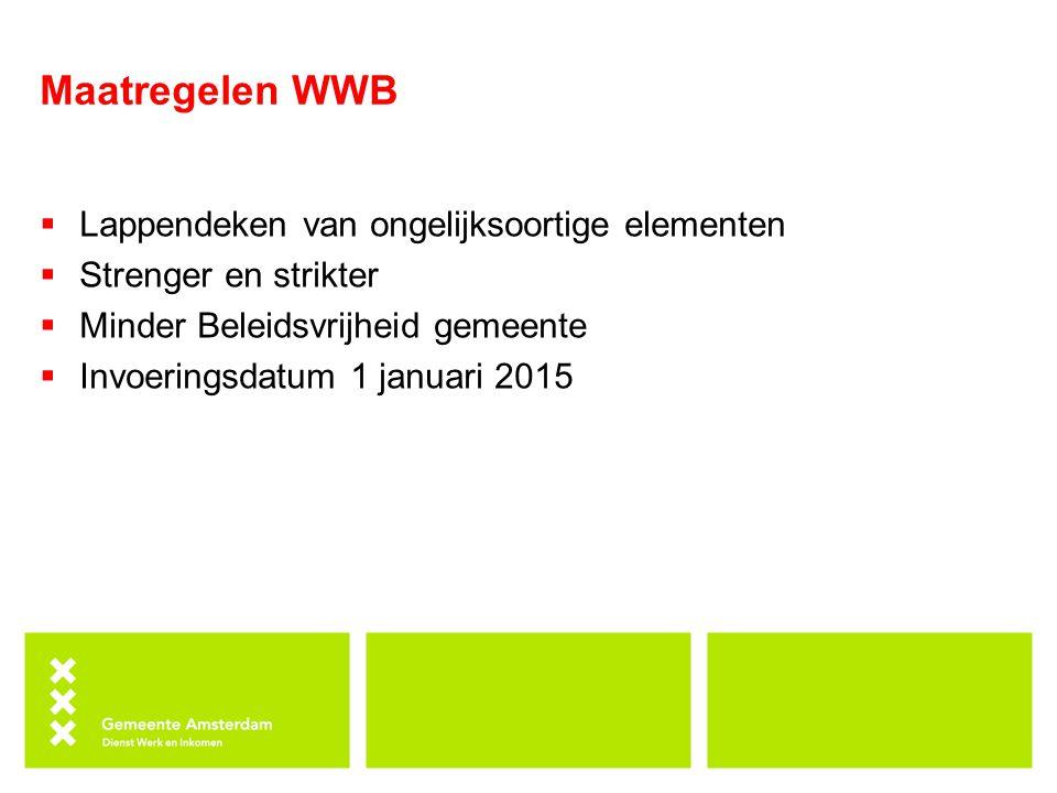 Maatregelen WWB Lappendeken van ongelijksoortige elementen
