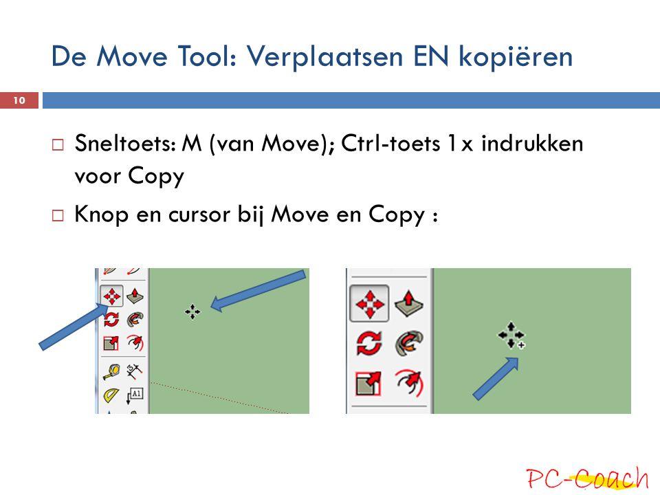 De Move Tool: Verplaatsen EN kopiëren