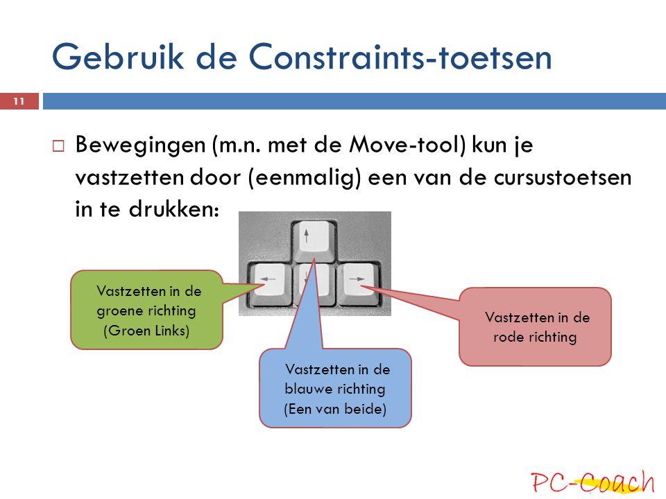 Gebruik de Constraints-toetsen