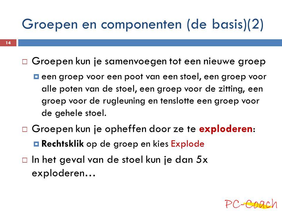 Groepen en componenten (de basis)(2)