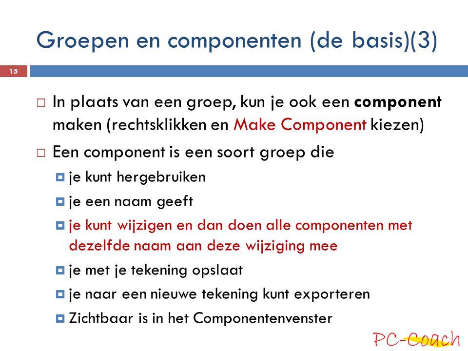 Groepen en componenten (de basis)(3)