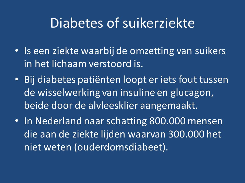 Diabetes of suikerziekte