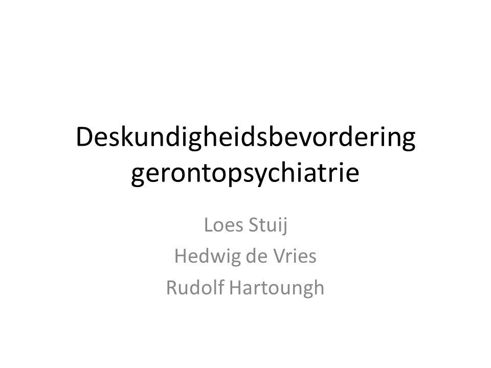 Deskundigheidsbevordering gerontopsychiatrie