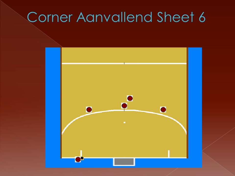 Corner Aanvallend Sheet 6