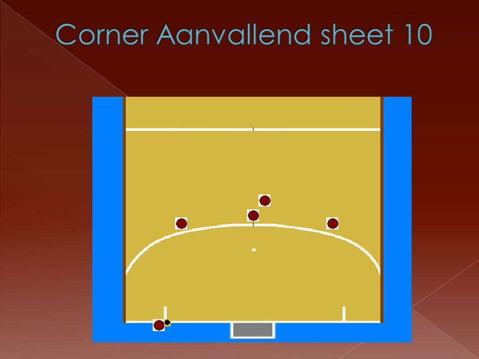 Corner Aanvallend sheet 10