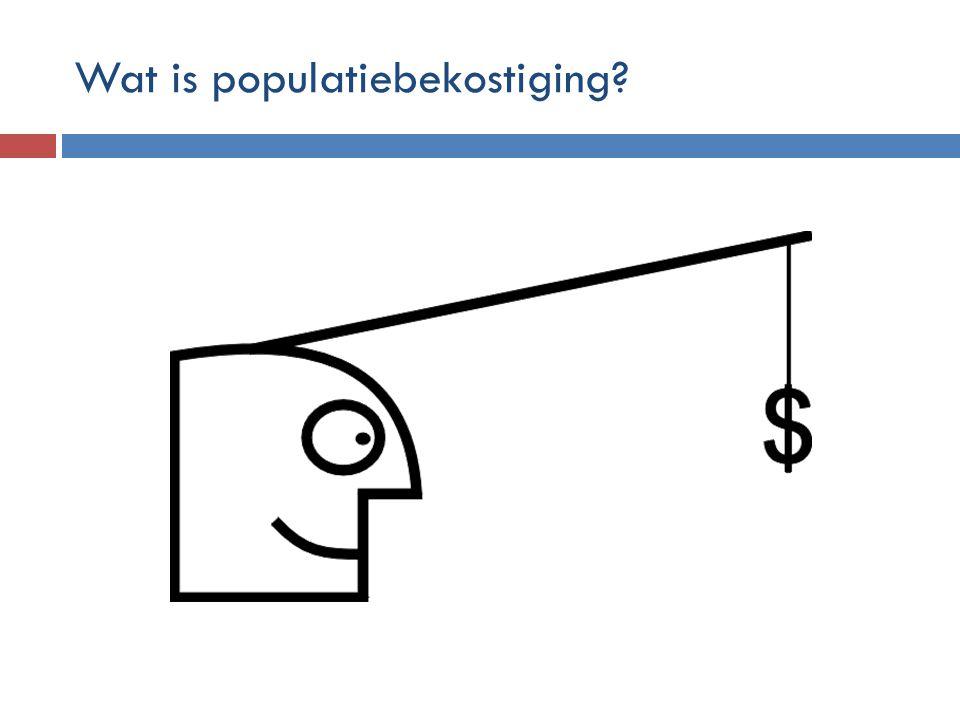 Wat is populatiebekostiging