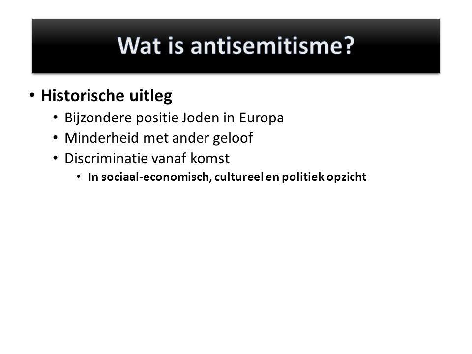 Wat is antisemitisme Historische uitleg
