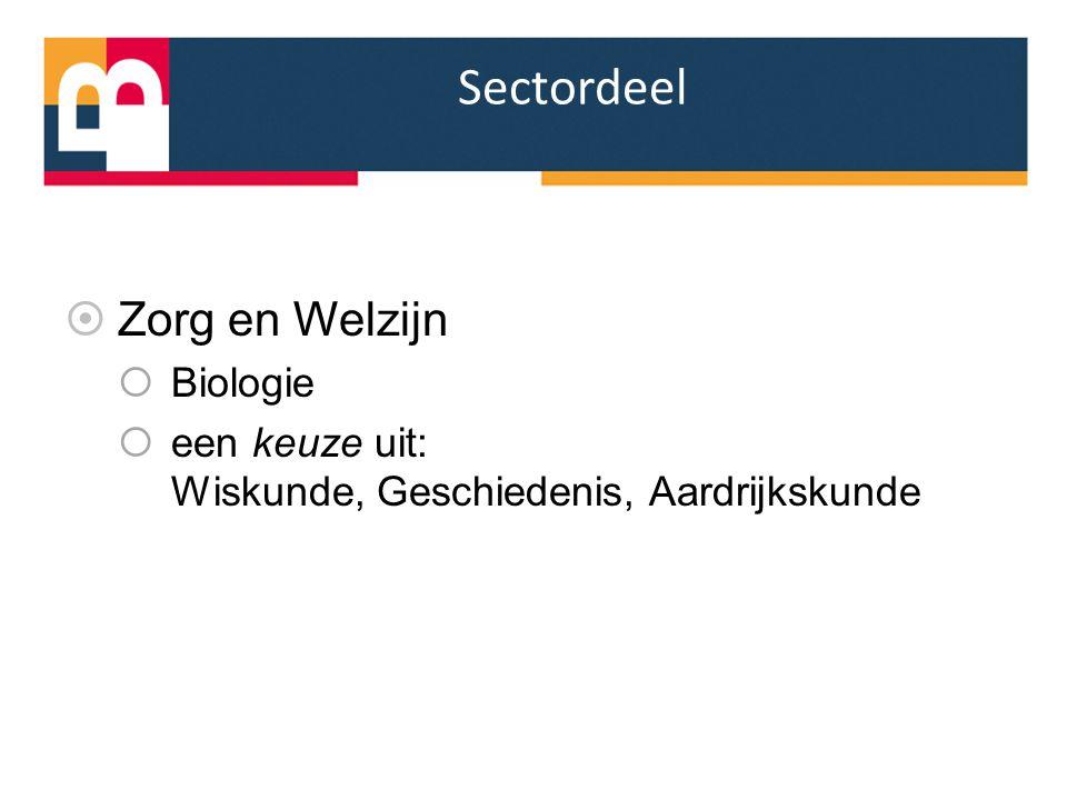 Sectordeel Zorg en Welzijn Biologie