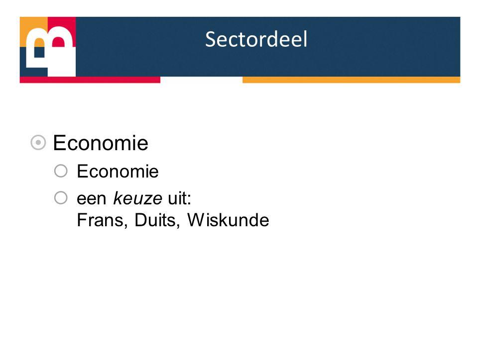 Sectordeel Economie een keuze uit: Frans, Duits, Wiskunde
