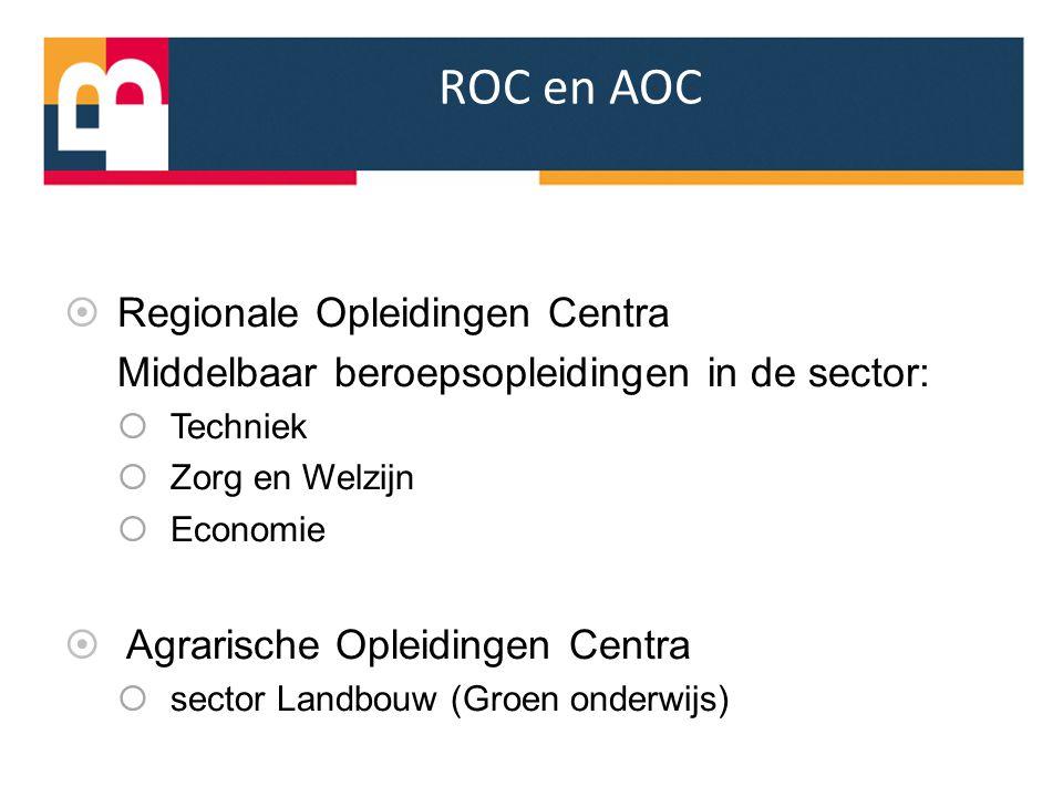 ROC en AOC Regionale Opleidingen Centra