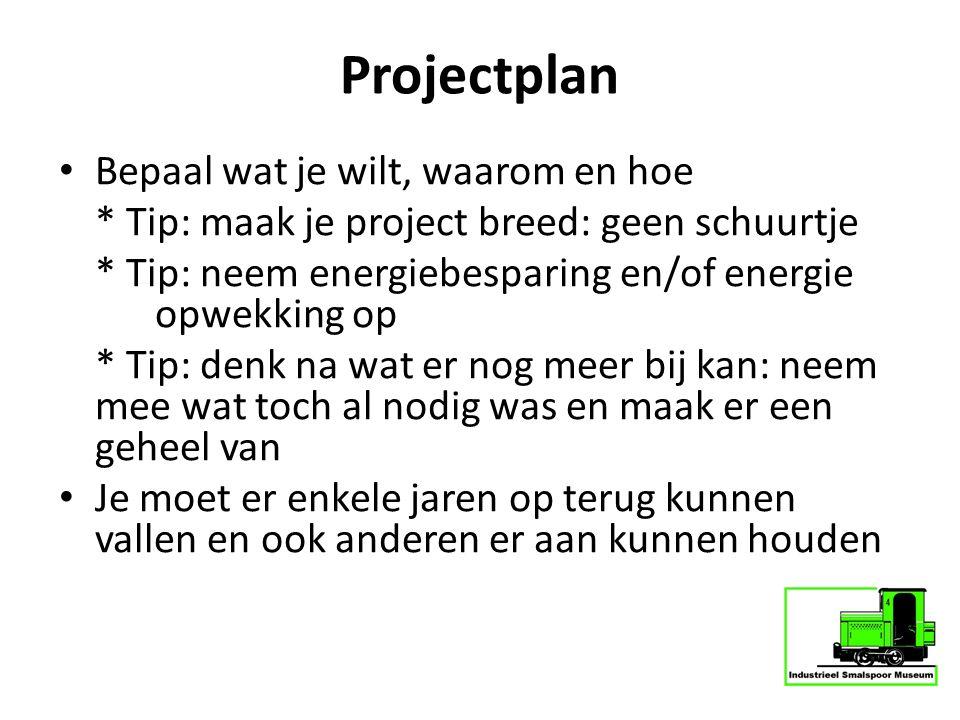 Projectplan Bepaal wat je wilt, waarom en hoe