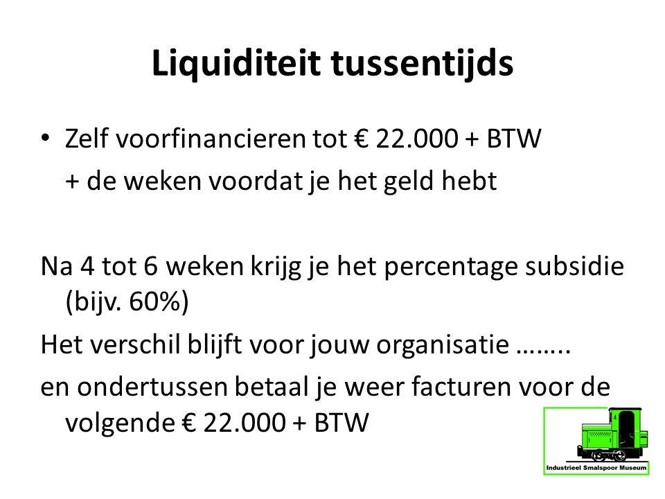 Liquiditeit tussentijds
