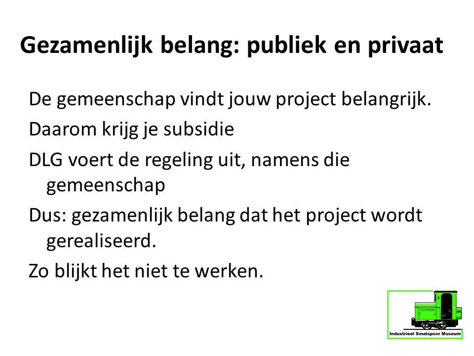 Gezamenlijk belang: publiek en privaat
