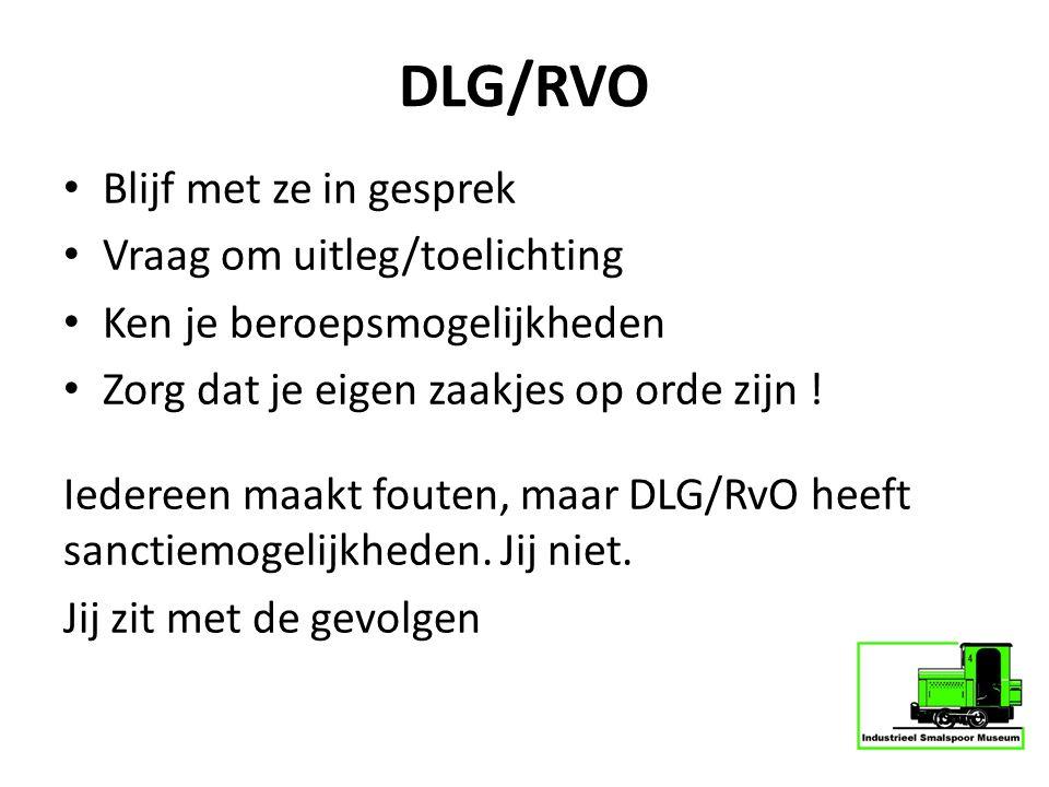 DLG/RVO Blijf met ze in gesprek Vraag om uitleg/toelichting