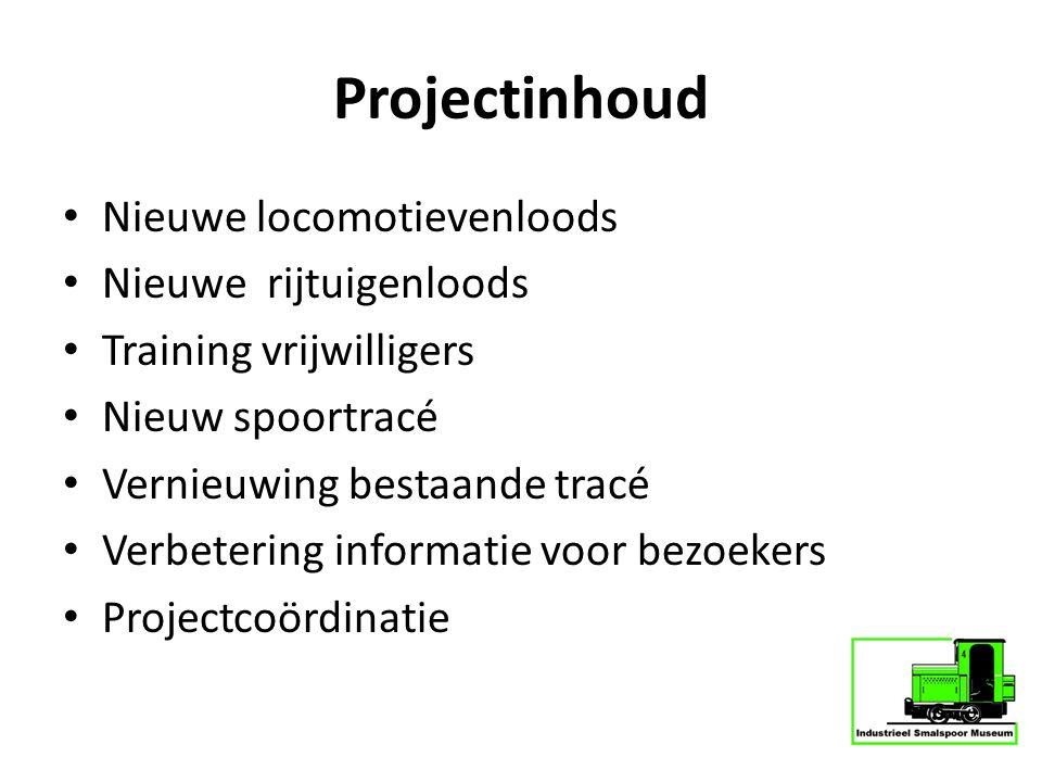 Projectinhoud Nieuwe locomotievenloods Nieuwe rijtuigenloods