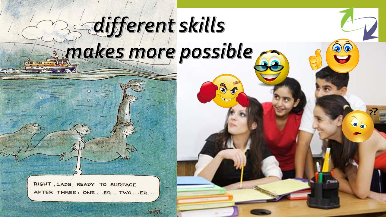 different skills makes more possible