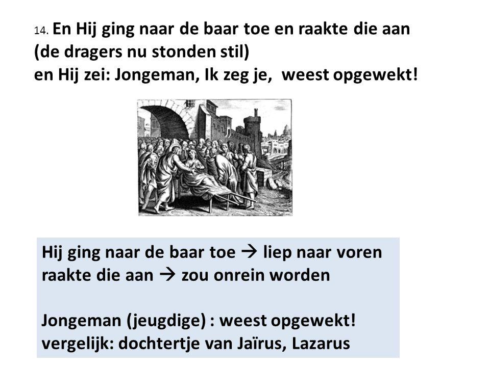 vergelijk: dochtertje van Jaïrus, Lazarus