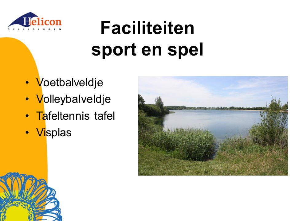 Faciliteiten sport en spel